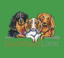 Longhaired Dachshund Lover Kids Tee