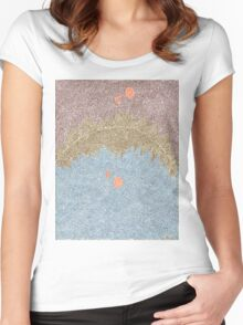 Sky Reflecting on a Mountain Lake Women's Fitted Scoop T-Shirt