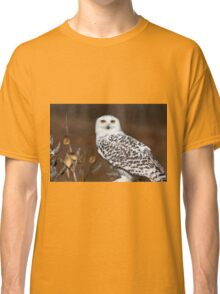 Snowy Owl with Autumn Foliage Classic T-Shirt