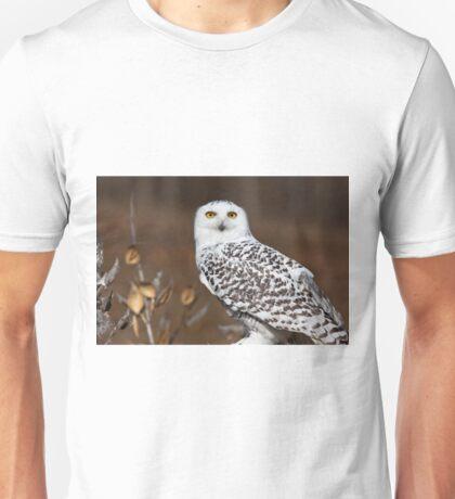 Snowy Owl with Autumn Foliage Unisex T-Shirt
