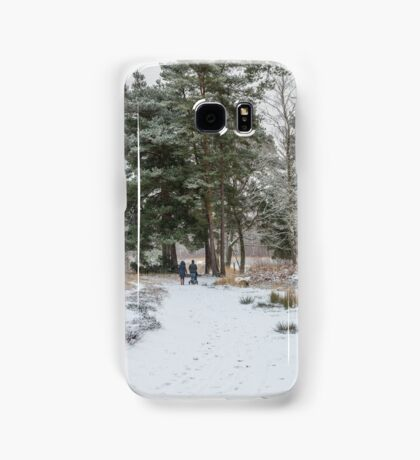 Walkers in the snow Samsung Galaxy Case/Skin