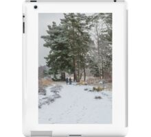 Walkers in the snow iPad Case/Skin