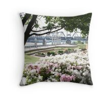 The Riverfront, Shreveport Throw Pillow