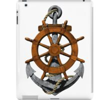 Nautical Ships Wheel And Anchor iPad Case/Skin