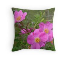 Prairie Rose Throw Pillow