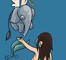 Mermaid and Friend by artdyslexia