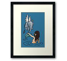 Mermaid and Friend Framed Print