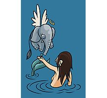 Mermaid and Friend Photographic Print