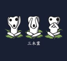 Tshirt Kodama - Tshirt Three Wise Monkeys by Cidelacomte