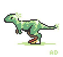 8-bit T-Rex Photographic Print