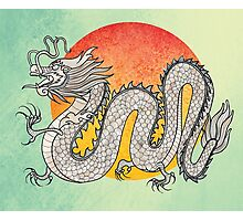 Champagne Dragon Photographic Print