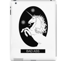 Black Bad Ass Unicorn  iPad Case/Skin