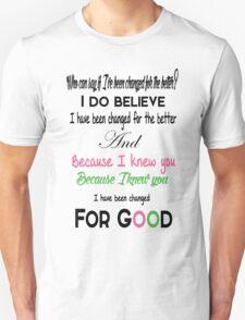 Wicked For Good Lyrics Unisex T-Shirt