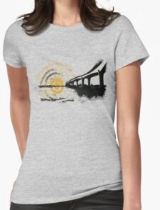 The bridge and the sun merge... Womens Fitted T-Shirt