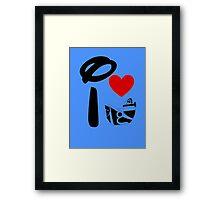 I Heart Astro Blasters Framed Print