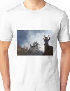 A New York City fireman calls for 10 more rescue workers to make their way into the rubble of the World Trade Center in New York city.  by U.S. Navy Unisex T-Shirt