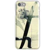 piano man sitting on a bench iPhone Case/Skin