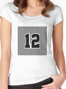 12th Man Simplistic Women's Fitted Scoop T-Shirt