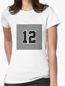 12th Man Simplistic Womens Fitted T-Shirt