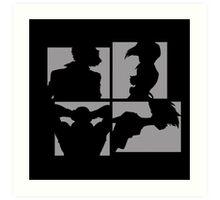 Cowboy Bebop Silhouettes. Art Print