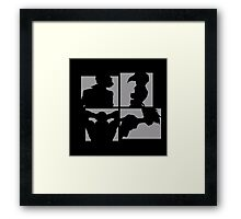 Cowboy Bebop Silhouettes. Framed Print