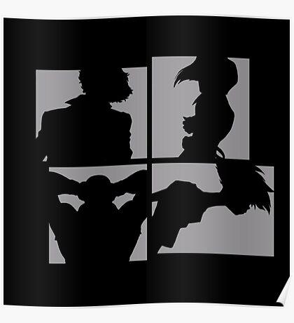 Cowboy Bebop Silhouettes. Poster