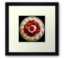 Strawberries & Cream Pie Framed Print