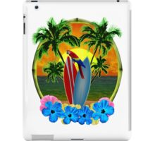 Parrot And Surfboards iPad Case/Skin