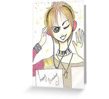 Manga bday card II Greeting Card