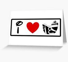 I Heart Astro Blasters (Classic Logo) Greeting Card