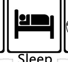 Eat, sleep, sign Sticker