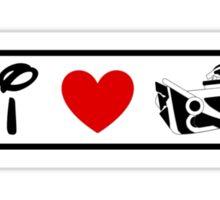 I Heart Astro Blasters (Classic Logo) Sticker