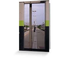 Loneliness of a long distance commuter Greeting Card