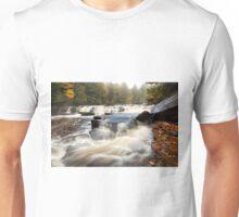 Misty Morning at Manido Falls - Upper Peninsula of Michigan Unisex T-Shirt