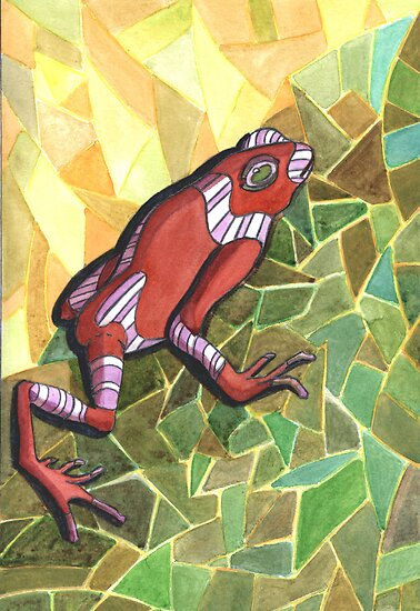 228 - POISON FROG - DAVE EDWARDS - WATERCOLOUR - 2008 by BLYTHART