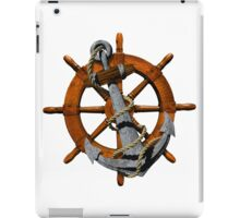 Captain's Wheel And Anchor iPad Case/Skin