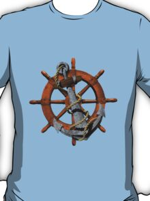 Captain's Wheel And Anchor T-Shirt