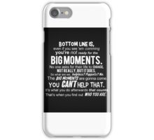 Bottom line is... Buffy the Vampire Slayer iPhone Case/Skin