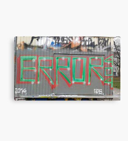 Tag Error 404 Canvas Print