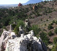 Looking toward Garden of the Gods, Glen Eyrie, Colorado Springs, CO 2008 by J.D. Grubb