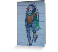 Clown On A Garage Door Greeting Card