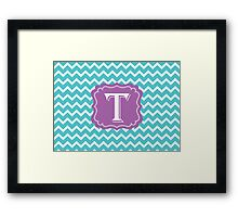 Chevron T Framed Print