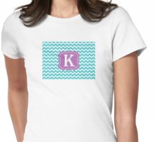 Chevron K Womens Fitted T-Shirt