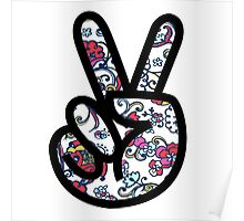 Lilly Peace sign Fingers Poster