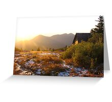 Sunrise, Timberline Lodge, Pike's Peak, CO 2008 Greeting Card