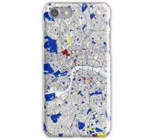 London Piet Mondrian Style City Street Map Art iPhone Case/Skin