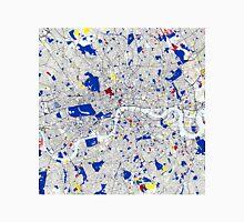 London Piet Mondrian Style City Street Map Art Unisex T-Shirt