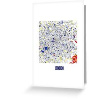 London Piet Mondrian Style City Street Map Art Greeting Card