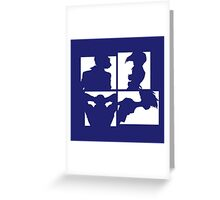 Cowboy Bebop Silhouettes (2nd color). Greeting Card