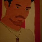 a photo of my canvas portrait of Ricky Martin by lollipopgirl